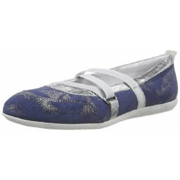 Könnyű, ezüstösen csillogó Richter balerina cipő