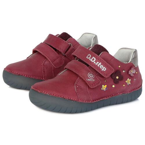 Valódi bőr D.D.step gyerekcipő, oldalán világító LED