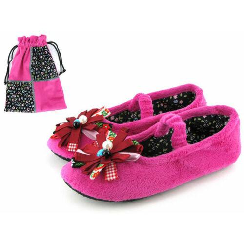 Gioseppo pink plüss  balerina cipő hozzáillő zsákkal