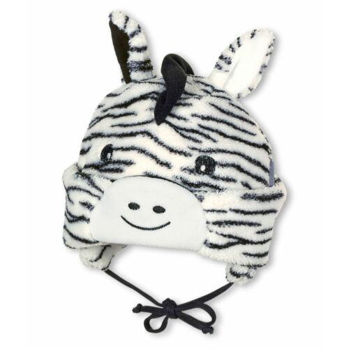 Sterntaler polárral bélelt zebrás sapka